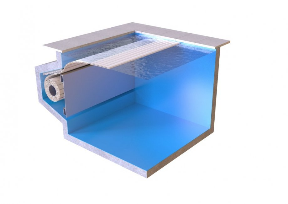 Lamelltäckning Aquatop nersänkt
